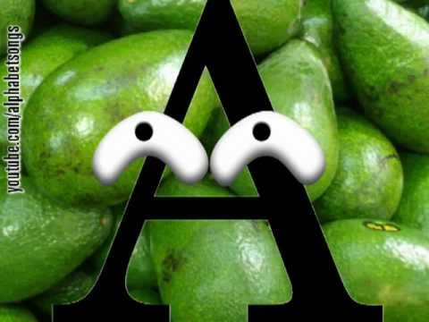 Avocado Baby ABC songs letter A Mozart alphabet song slow tempo 3-in-1 sing-along video game