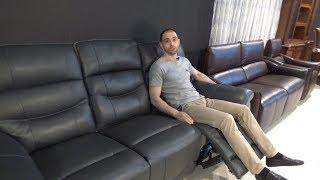 """Видео обзор: Трехместный диван """"Приано"""" с реклайнерами"""