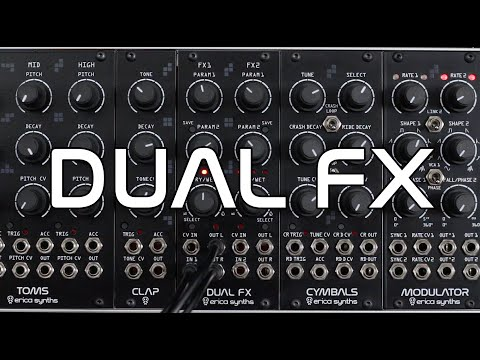 Erica Synths Dual FX Effects Processor Eurorack Synthesizer Module