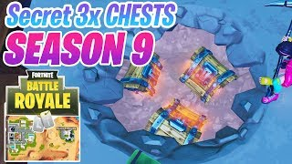 Fortnite Saison 9 Secret 3x Chest New Area Emplacement Près de Paradise Palms