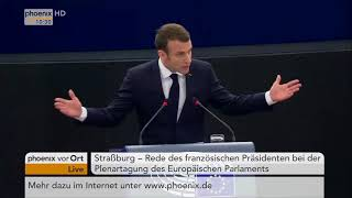 Rede von Emmanuel Macron vor dem EU-Parlament am 17.04.18