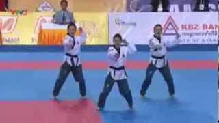 vuclip Seagames 27- 2 bài thi xuất sắc của các nữ võ sỹ Taekwondo Châu Tuyết Vân