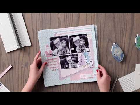 Tearing Tool Layout using the Sugarplum Collection | Creative Memories Australia