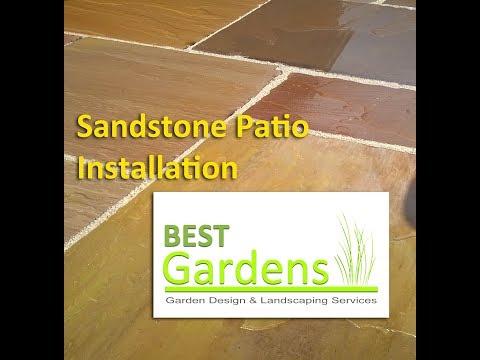 Sandstone Patio Installation