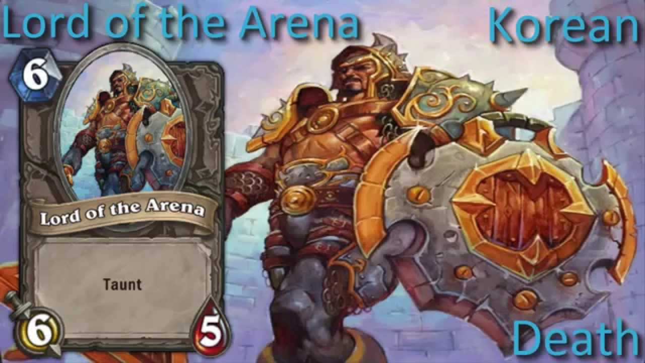 The Gates Are Open.Lord Of The Arena Card Sounds In 12 Languages Hearthstone