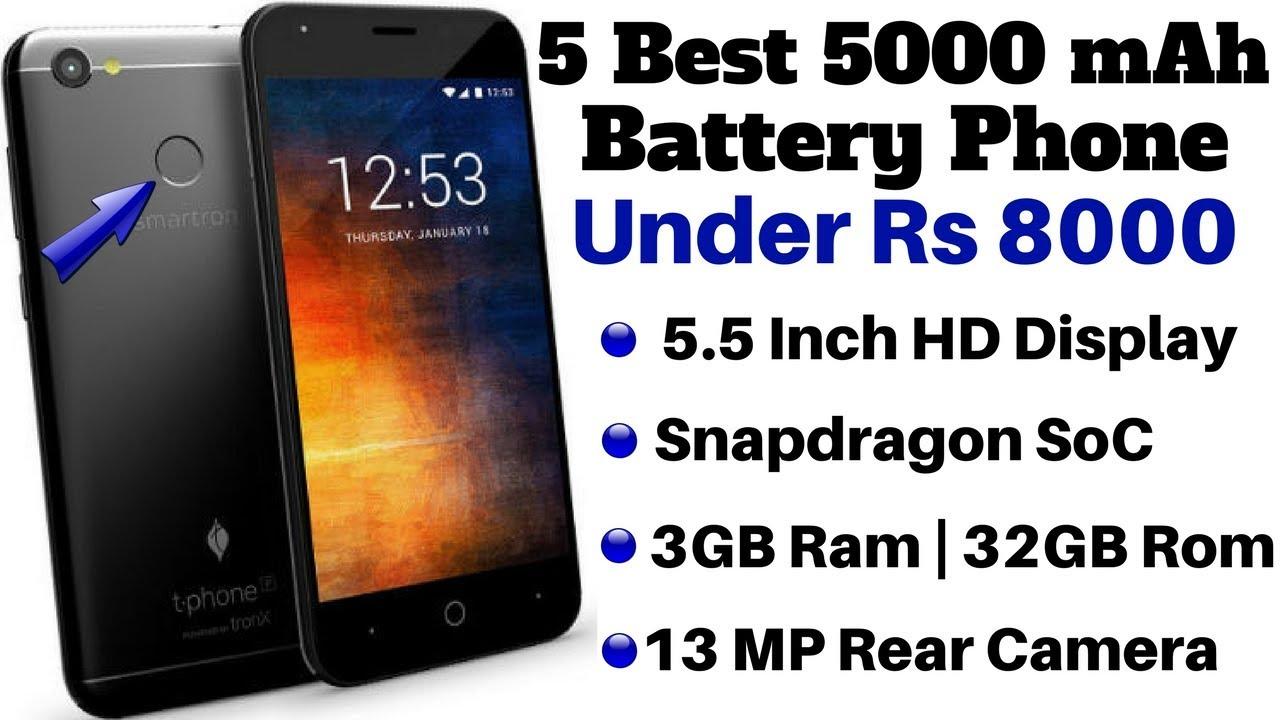 14ea924fbf9 5 Best 5000 mAh Battery Smartphone Under Rs 8000 In January 2018 ...