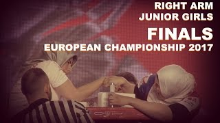 RIGHT ARM FINALS Junior Girls   EURO ARM 2017  