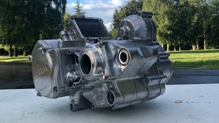Cleaning and Polishing cr125 Engine to Brand New Condition / Build Part 8