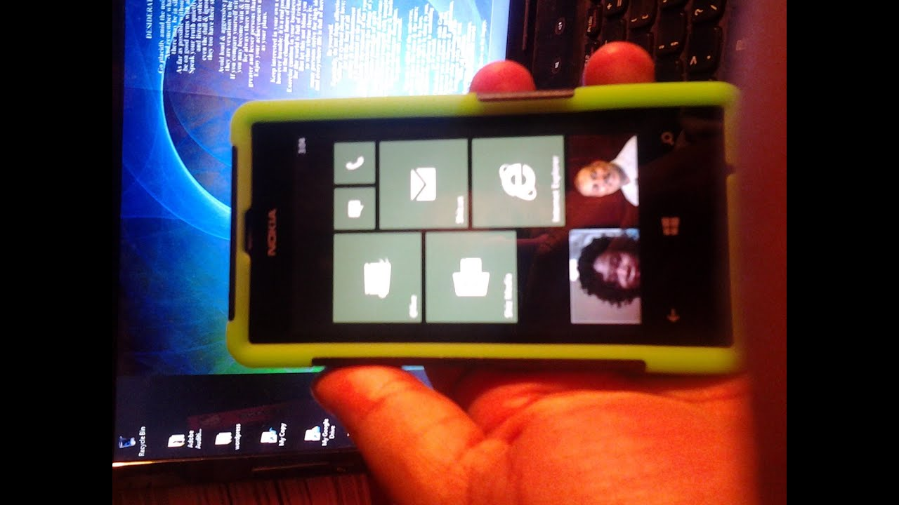 Case on my Nokia Lumia 521 Windows Phone 8 --- VID 20140115 030536