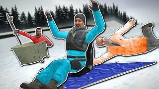 INSANE SLED BUILD RACE! - Garry's Mod Gameplay - Gmod Sled Build Race!