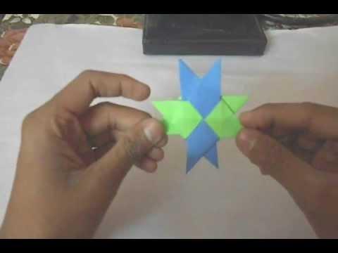 Origami Moving Ninja Star Youtube