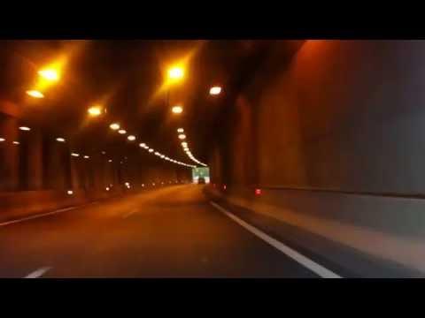 highway - dawn through Slovenia