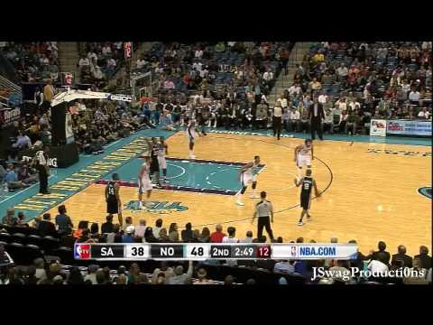 HD - San Antonio Spurs vs New Orleans Hornets - Anthony Davis NBA Debut - 10.31.2012