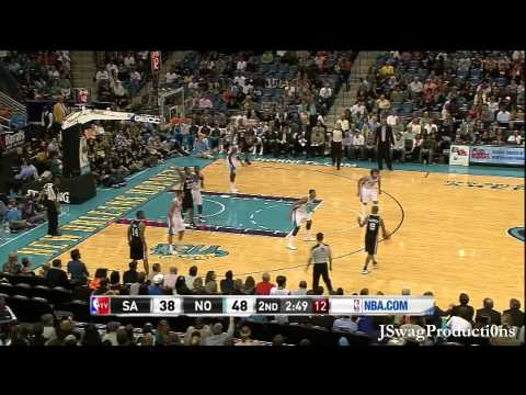 HD - San Antonio Spurs vs New Orleans Hornets - Anthony Davis NBA Debut - 10.31.2012