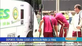 Deportes Tolima llegó a Medellín para la gran final del fútbol colombiano