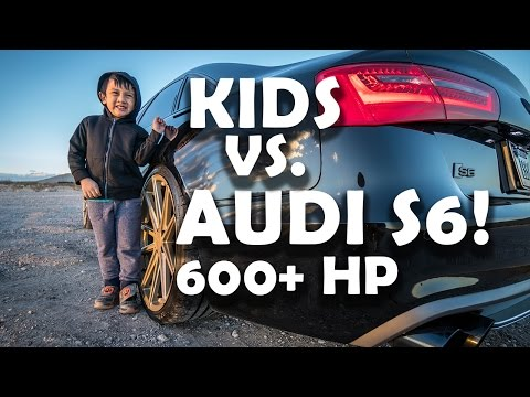 Kids REACT to Fast Car!  600hp Audi S6 LAUNCH CONTROL - APR Stage 2 tune