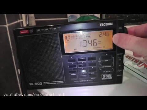 Scanning AM Medium Wave MW Band In Clacton Essex Jan 2016 Update Scan After Europe Switch Off
