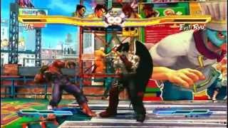 SFxT Real Evil Ryu (not costume) and Oni(akuma) VS Devil Jin(vol 4) and Devil Kazuya
