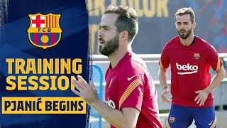 ? MIRALEM PJANIĆ'S first training session as a BARÇA PLAYER! ?❤️
