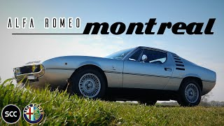 4K - ALFA Romeo Montreal 1975 | Silver | Test drive in top gear - 2.6 Ltr V8 Engine sound