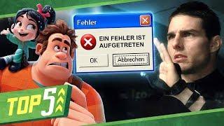 Download Die 5 DÜMMSTEN Computer-Fehler in Filmen Mp3 and Videos