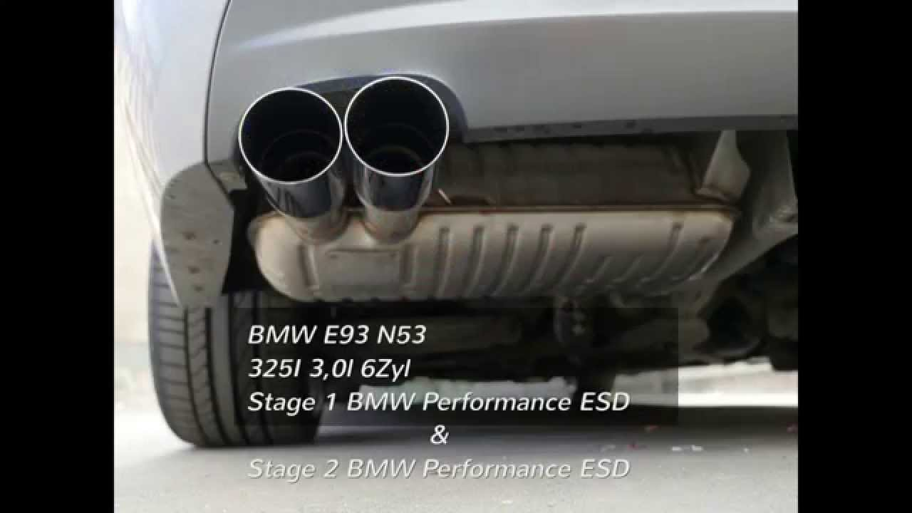 bmw e93 325i n53 performance supersprint auspuff exhaust. Black Bedroom Furniture Sets. Home Design Ideas