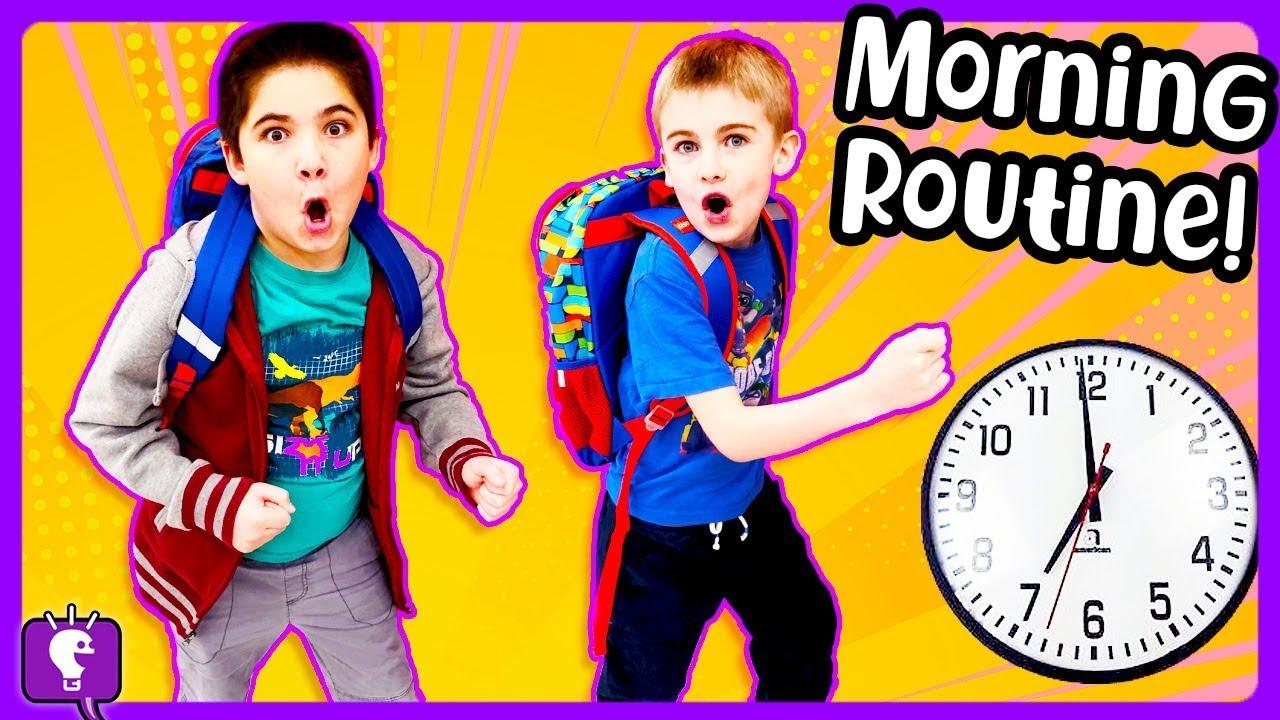 MORNING ROUTINE! SCHOOL Day with HobbyPig vs HobbyFrog by HobbyKidsTV
