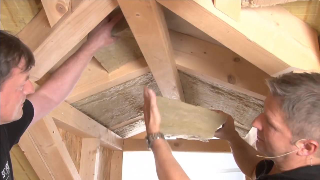 ✓ Holzrahmenbau: Dämmung der Dachgaube mit Ultimate ☆ Web TV für ...