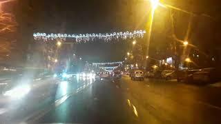 Romania Nights Christmas Driving City Cars Traffic Town Video Travel