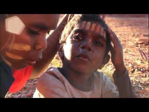 Body Painting With Aboriginal Children