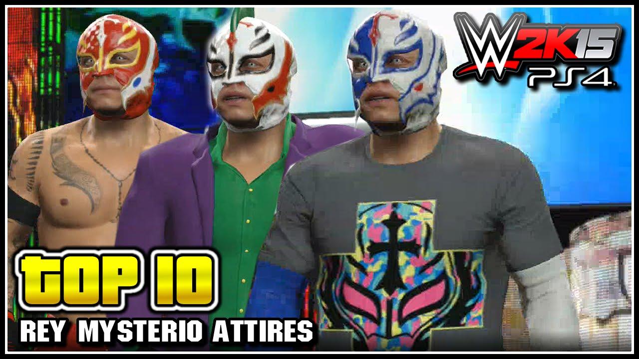 Wwe 2k15 Top 10 Rey Mysterio Attires Wwe Top 10 Youtube