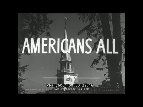 WORLD WAR II ANTI-DISCRIMINATION & RACE RELATIONS   U.S. GOVERNMENT MOVIE 76064