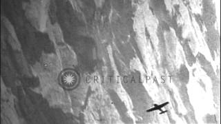 Captain B E Ellington of 360th Squadron of US 8th Air Force takes down a German M...HD Stock Footage