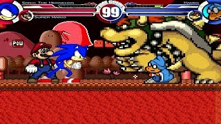 Sonic(Me) & Super Mario vs Kamek & Bowser Part 3 MUGEN Battle!!!