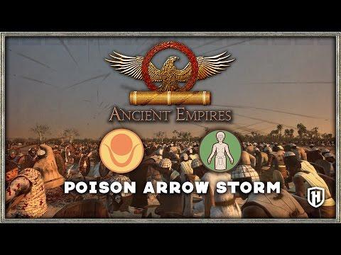 POISON ARROW STORM! | Kingdom of Kush v Saba - Ancient Empires Mod Gameplay