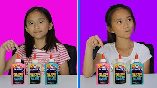 TWIN TELEPATHY GLOW-IN-THE-DARK SLIME CHALLENGE!