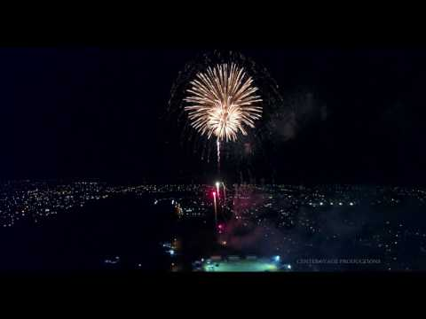 FIREWORKS! - Aerial View of Guyana