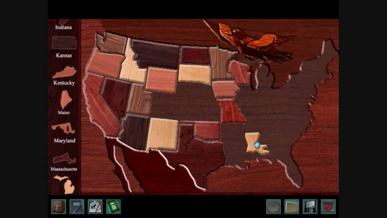 Nancy Drew Warnings At Waverly Academy Part  United States - Us states map puzzle game