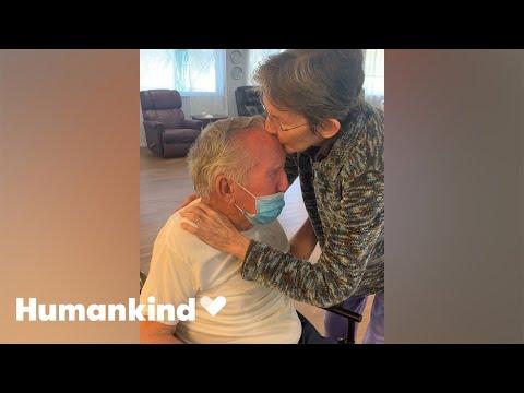 Couple joyously reunite after 215 days apart   Humankind