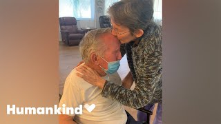 Couple joyously reunite after 215 days apart | Humankind