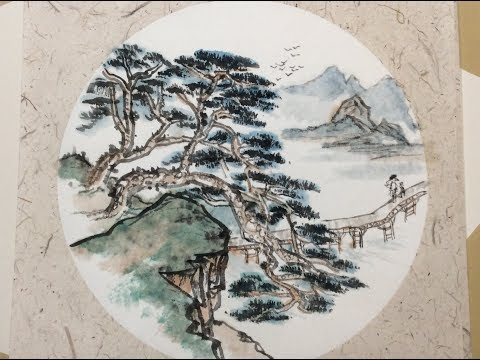 Chinese Ink Wash Painting Original Handmade Painting on Rice (Xuan) Paper with music (4)