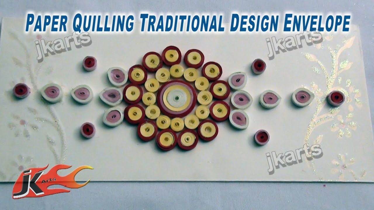 DIY Designer Envelope with Paper Quilling Traditional Design 5 ...