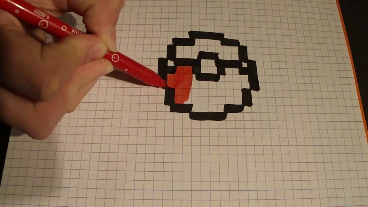 Pixel Art Dessiner Une Pokéball Youtube