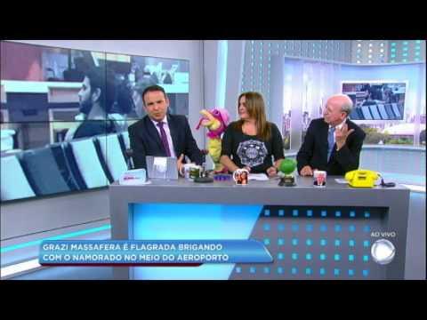 Hora da Venenosa: Grazi Massafera briga com namorado em aeroporto