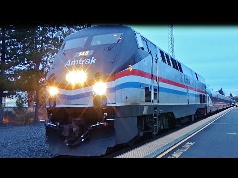 Heritage Unit #145 in Salem, Oregon - Amtrak Cascades #508