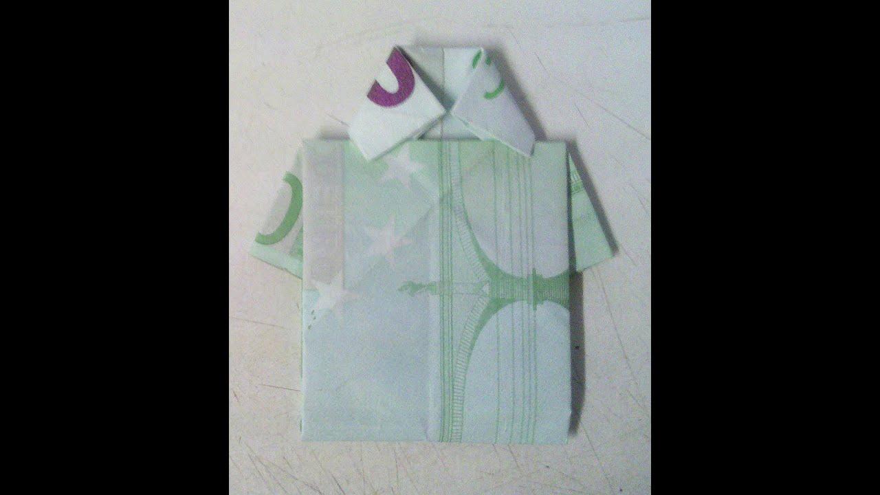 Geldschein zum Hemd falten Origami Anleitung kreatives Geldgeschenk! YouTube ~ 22200258_Geldgeschenk Liegestuhl Falten