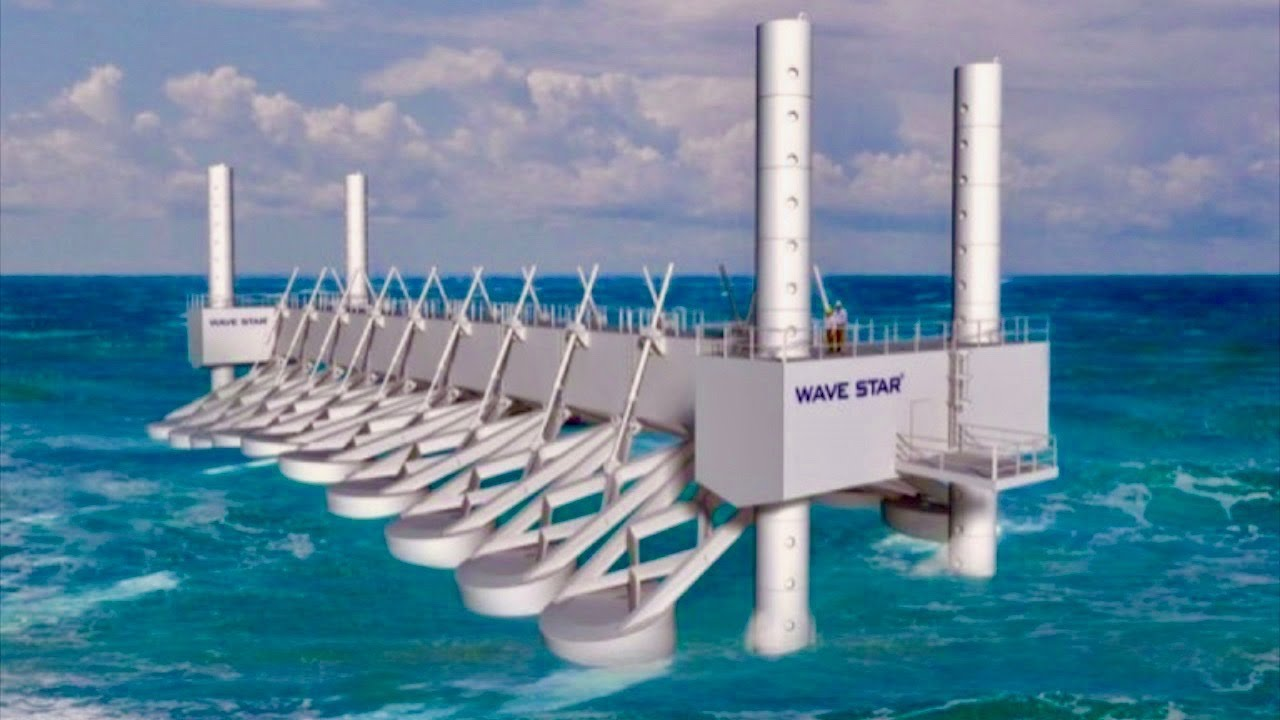 Ocean Power Plant Generates Energy From Waves Unlimited Cheap How Do Wind Turbines Generate Electricity Video Powers Clean
