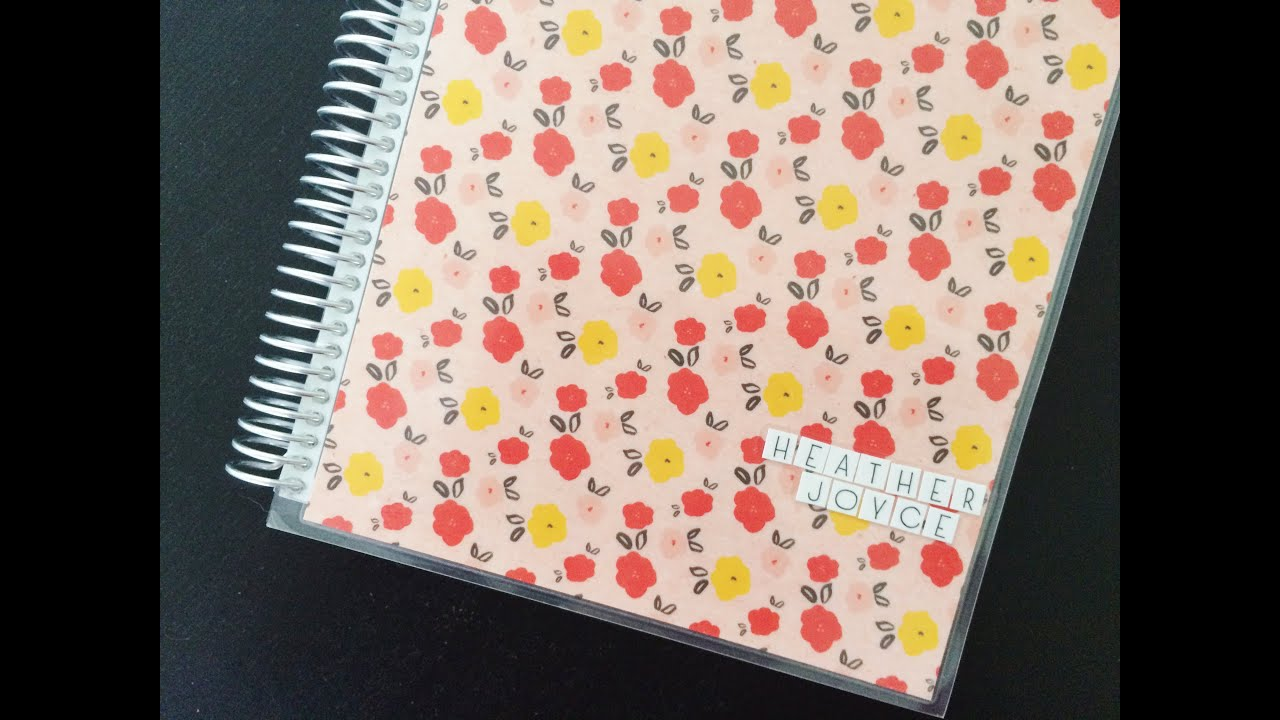 custom erin condren life planner cover youtube
