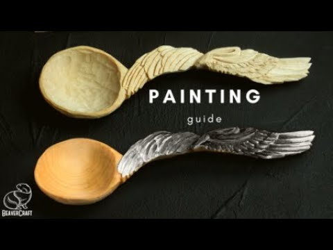 Wood Carving for Beginners - Angel Spoon Painting Guide