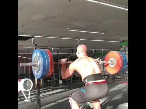 Willie McLendon 2 Front Squat @160kg